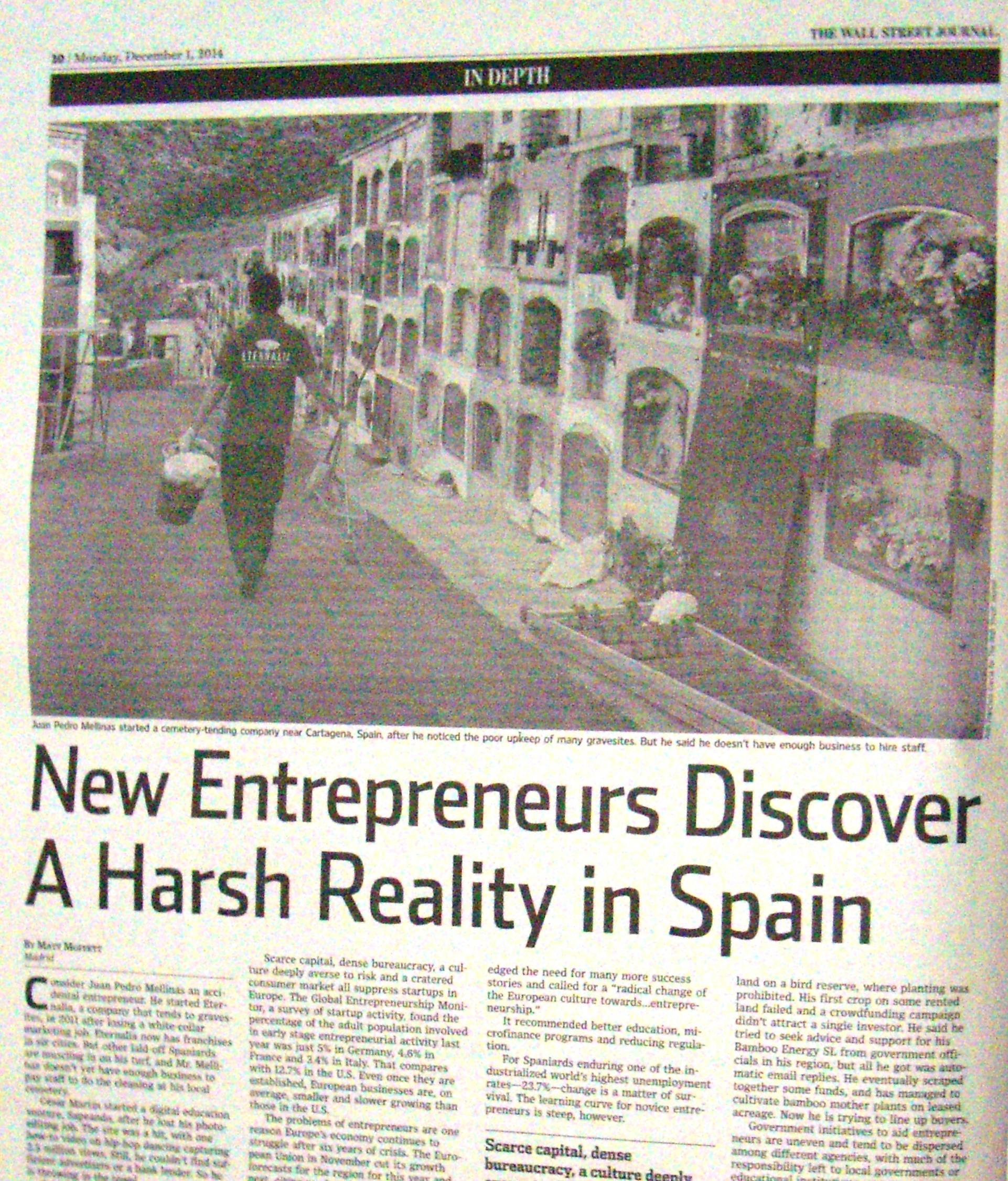 En portada del Wall Street Journal